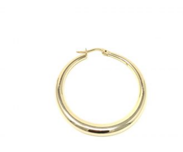 MARIT RAE Large Smooth Gold Hoop