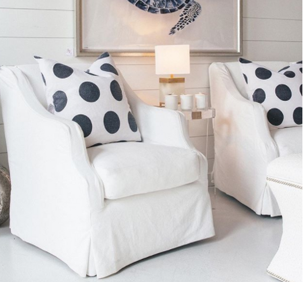 Polka Dots Linen Pillow