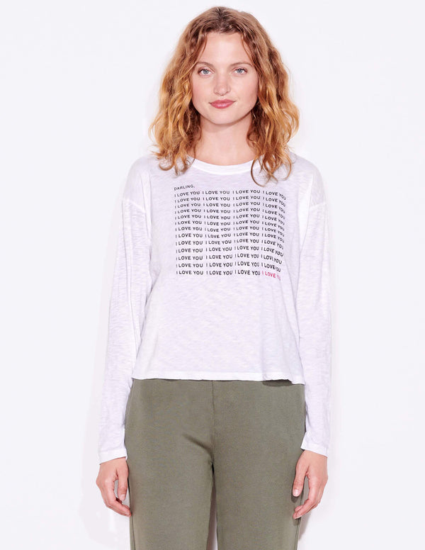 SUNDRY Darling ILY Long Sleeve Tee