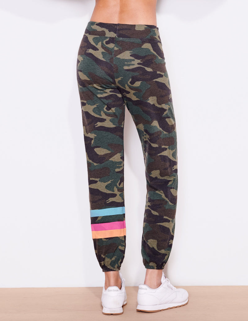 Striped Dark Camo Jogger Pant