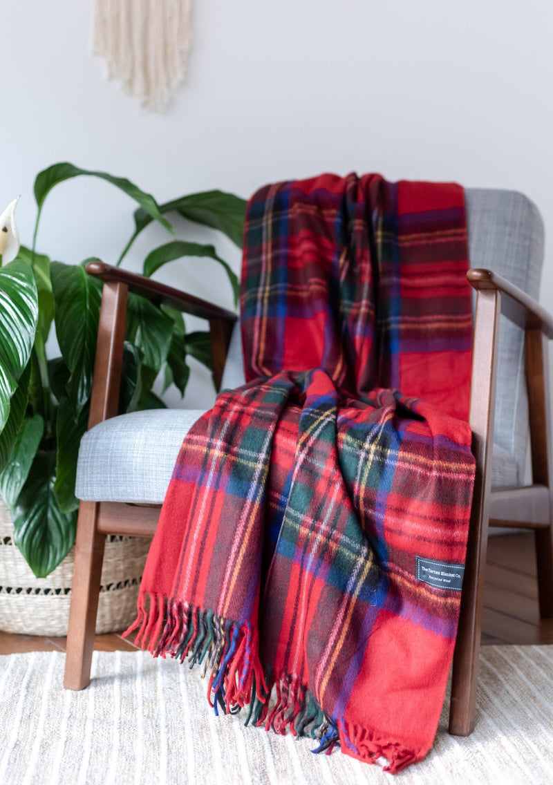 Stewart Royal Tartan Recycled Wool Blanket