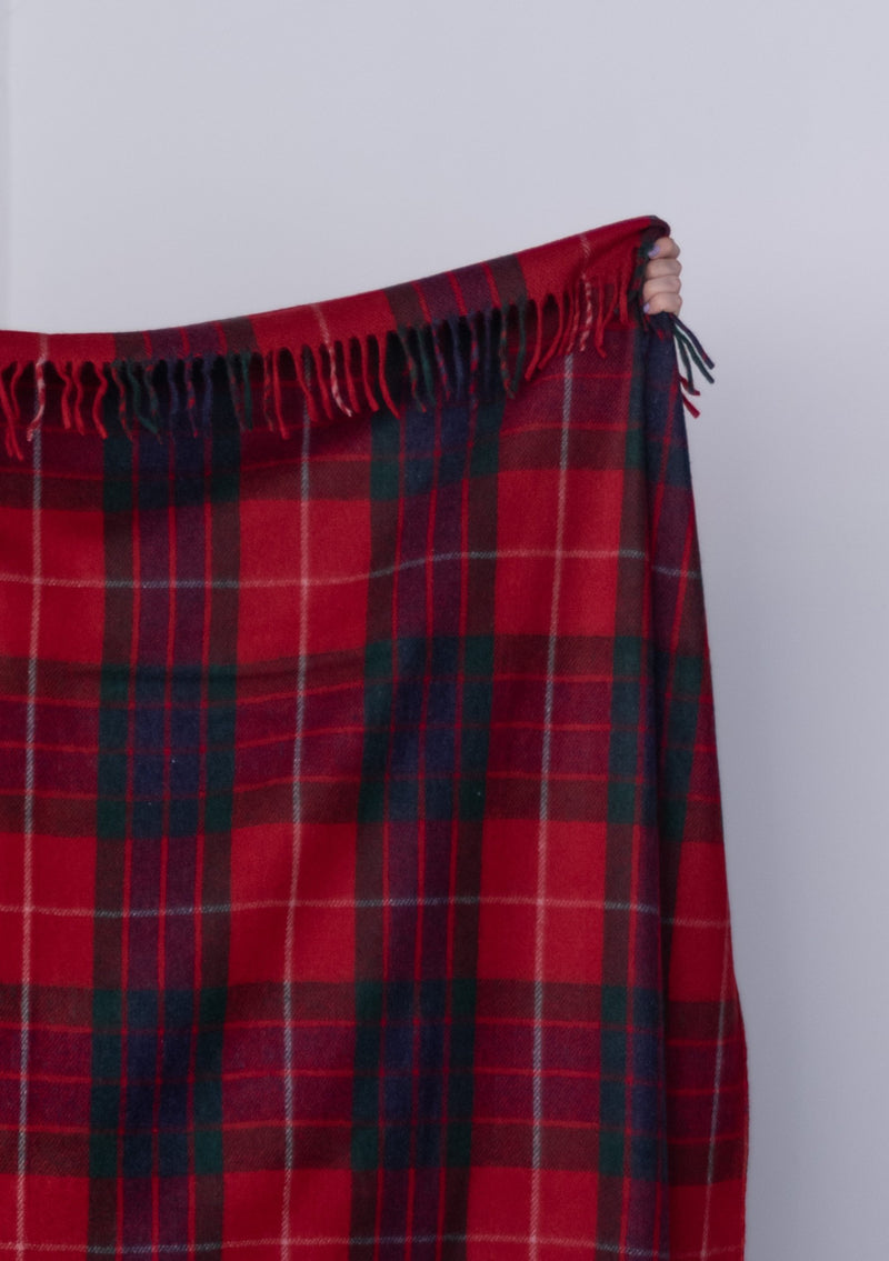 Tartan Wool Recycled Wool Blanket- Fraser