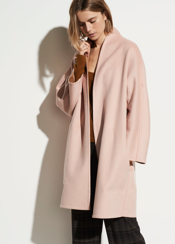 VINCE Reversible collarless coat