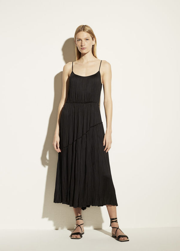 VINCE Tiered Asymmetric Dress
