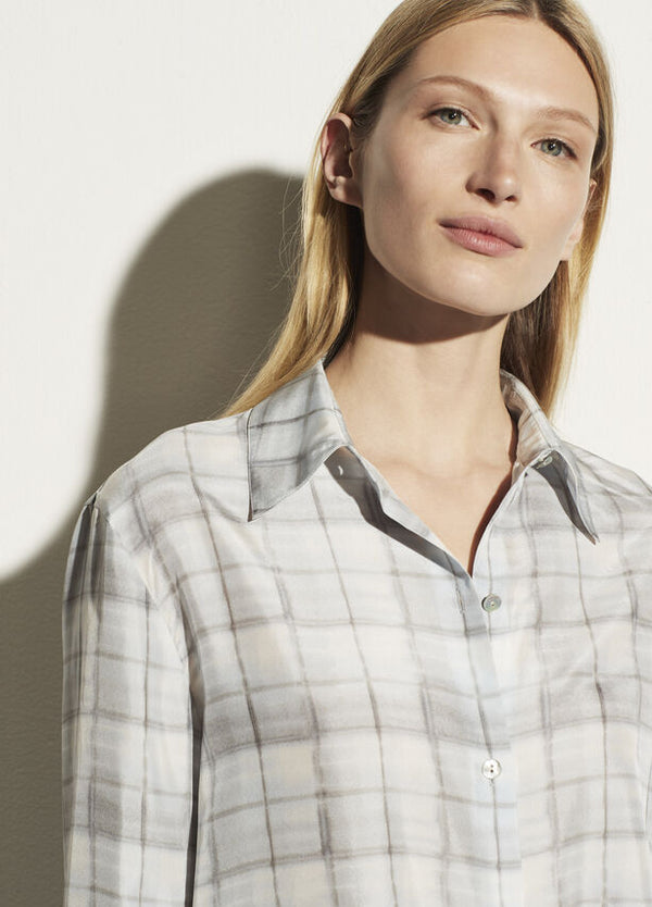 VINCE Hazy Plaid Buttondown