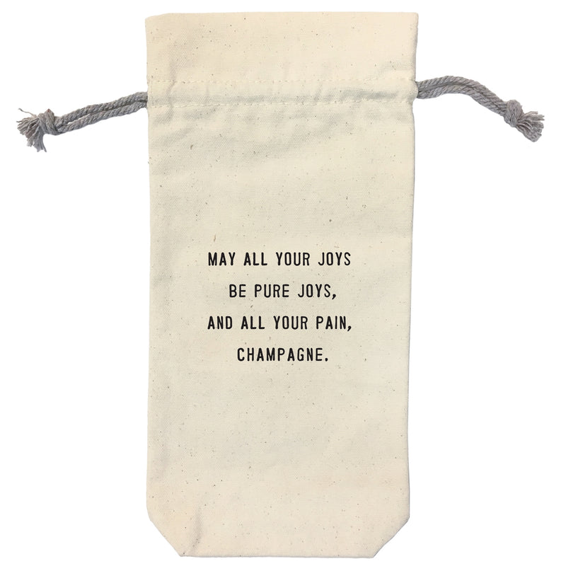 Canvas Wine Bag - May All Your Joys