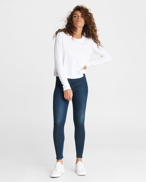 RAG & BONE The slub cropped long sleeve tee