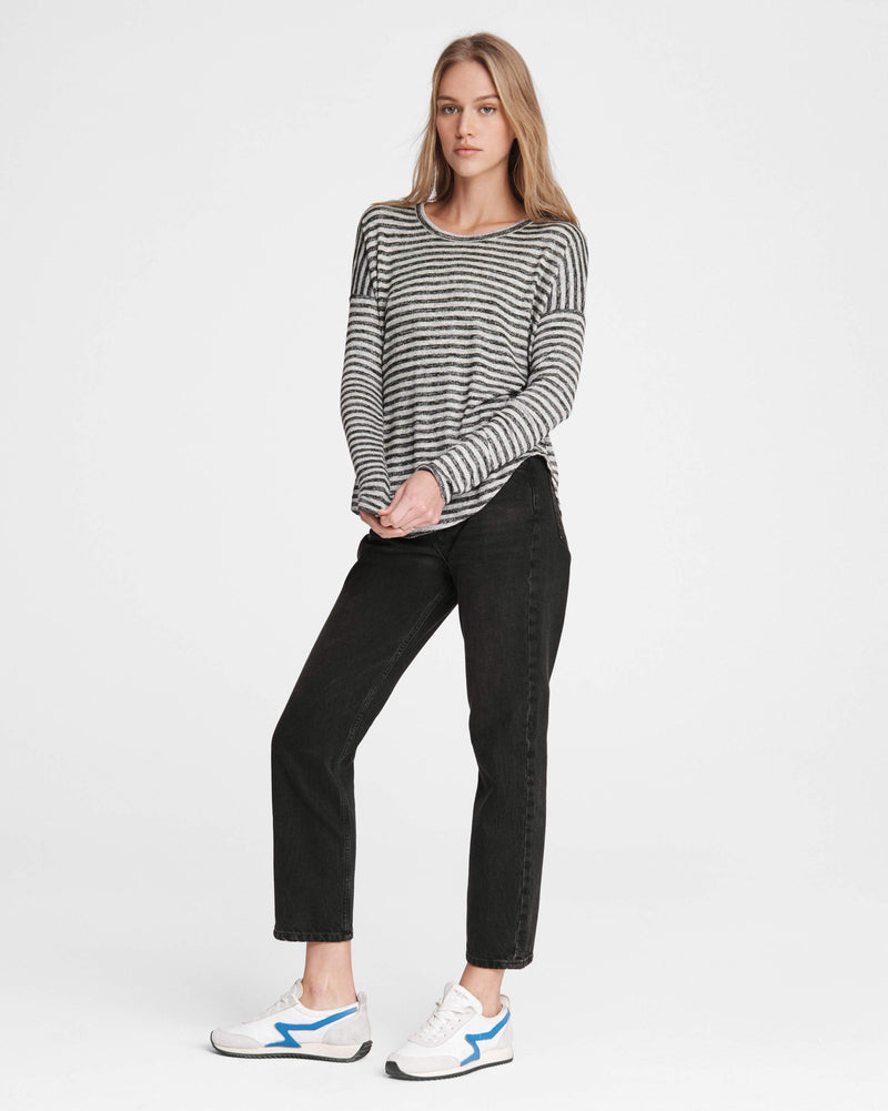 The Knit Striped Long Sleeve Tee