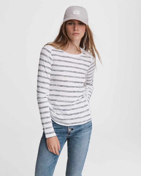 RAG & BONE  The Knit Summer Stripe Long Sleeve Top