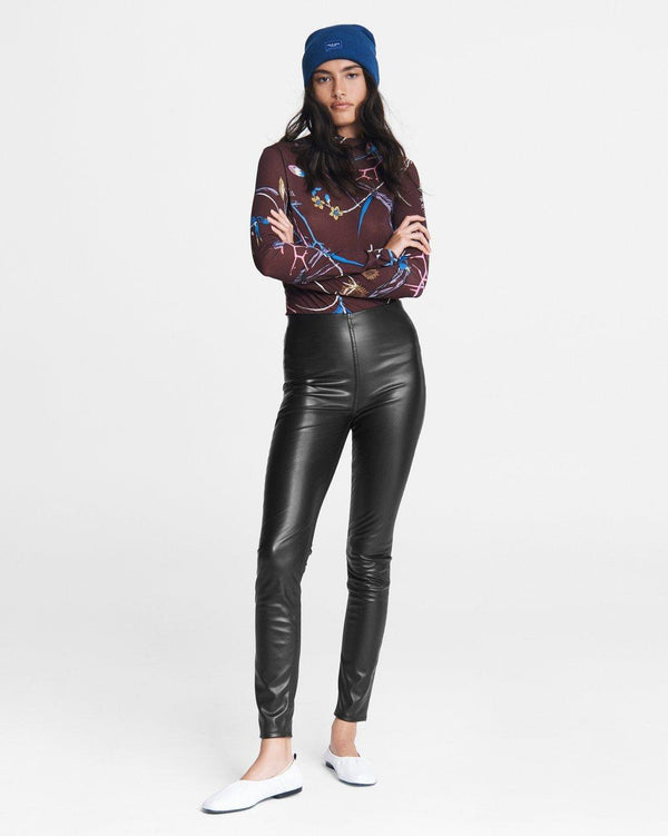 Nina faux leather pull on pant