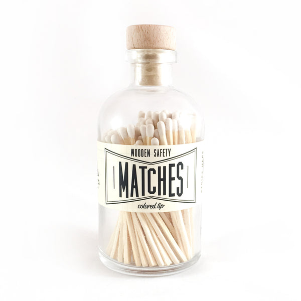 Vintage Apothecary Matches - White