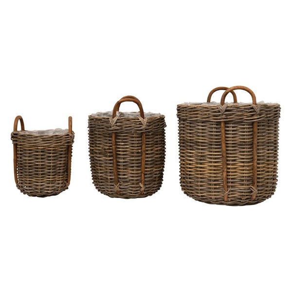 Rattan Basket Planter - Large