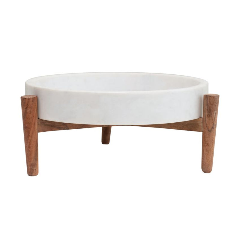 Marble Tray with Wood Stand