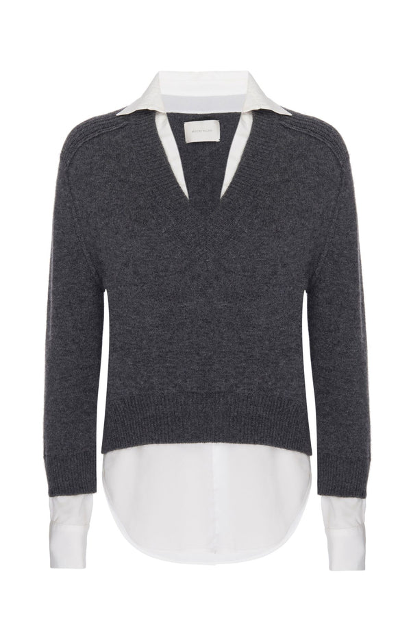 Alum v-neck layered looker sweater