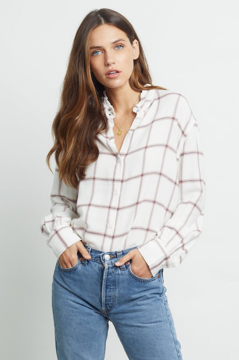 Andie Buttonup - White, Rose, Sapphire