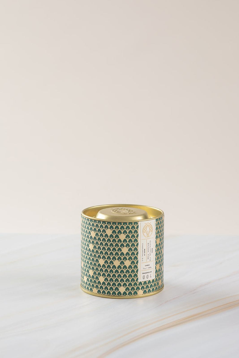 Fir Balsam, Pine 7 oz. gold tin candle