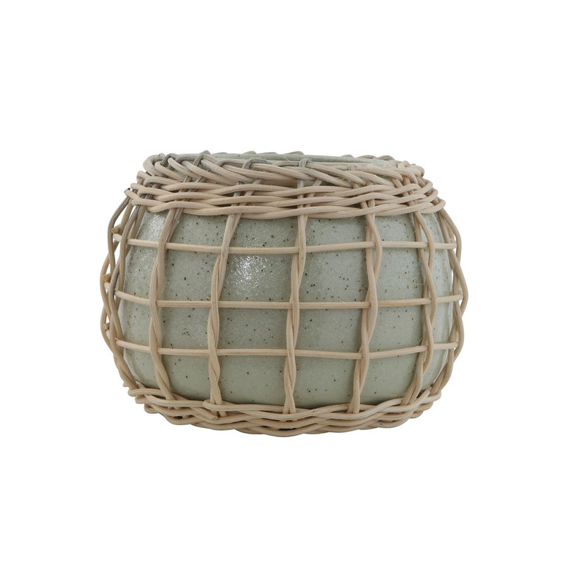 Bamboo Weave Stone Planter