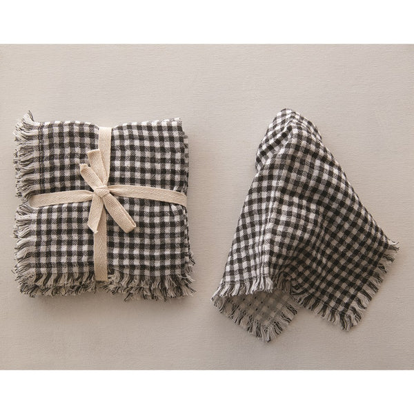 Gingham Napkins With Fringe
