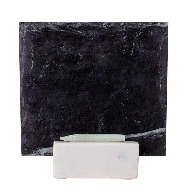 Slate Chalkboard With Marble Base & Chalk