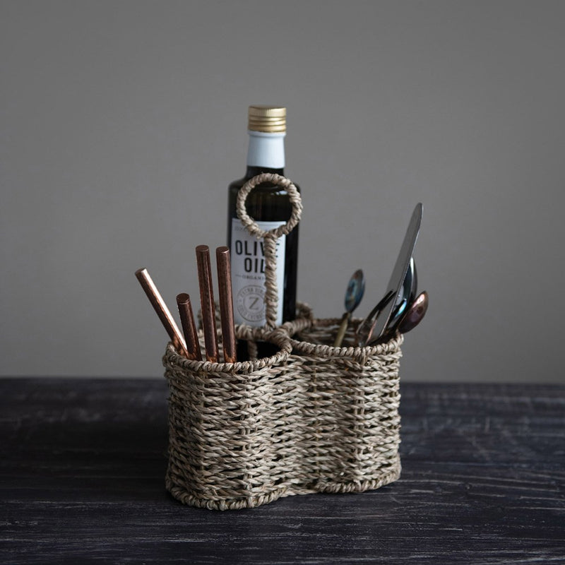 Seagrass Utensil Caddy