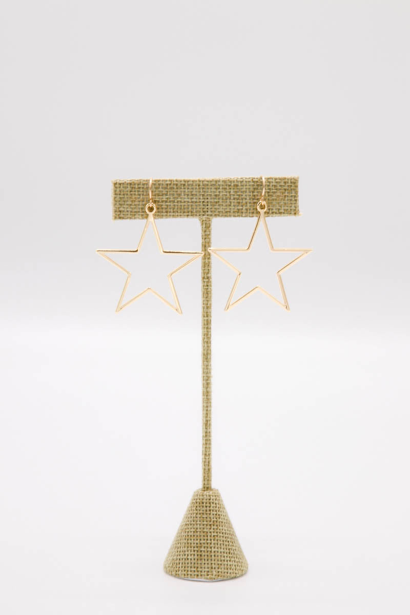 MARIT RAE Gold Star Earrings