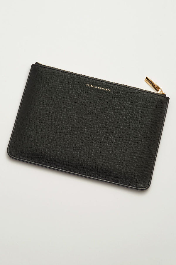 """Enjoy The Little Things"" Medium Pouch - black"
