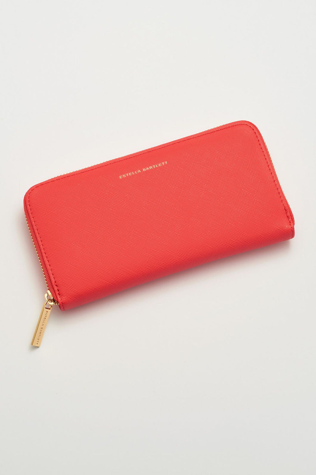 Large Zip wallet- Coral