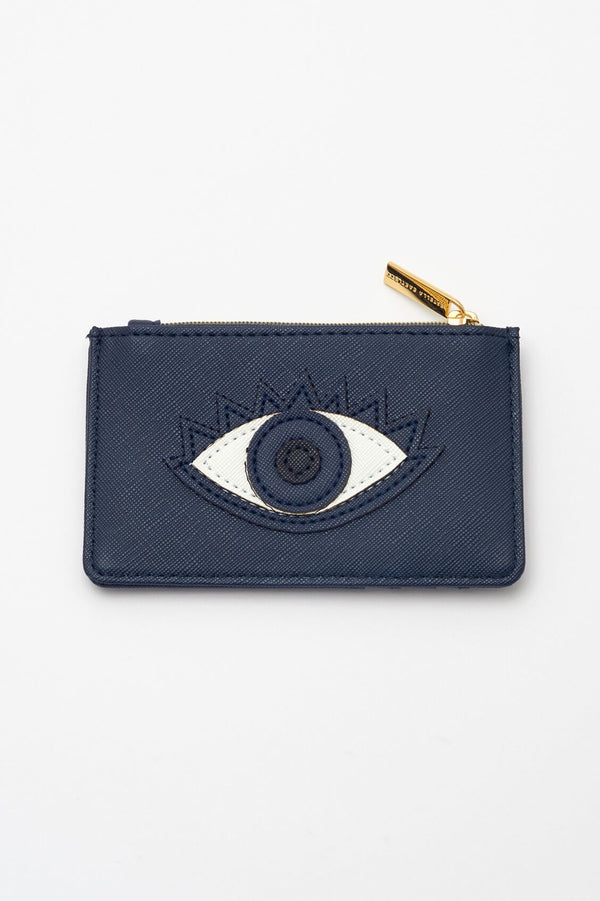 Eye Applique Card Purse