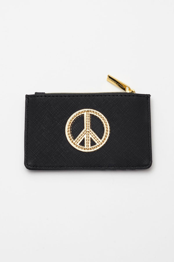 Peace Applique Card Purse