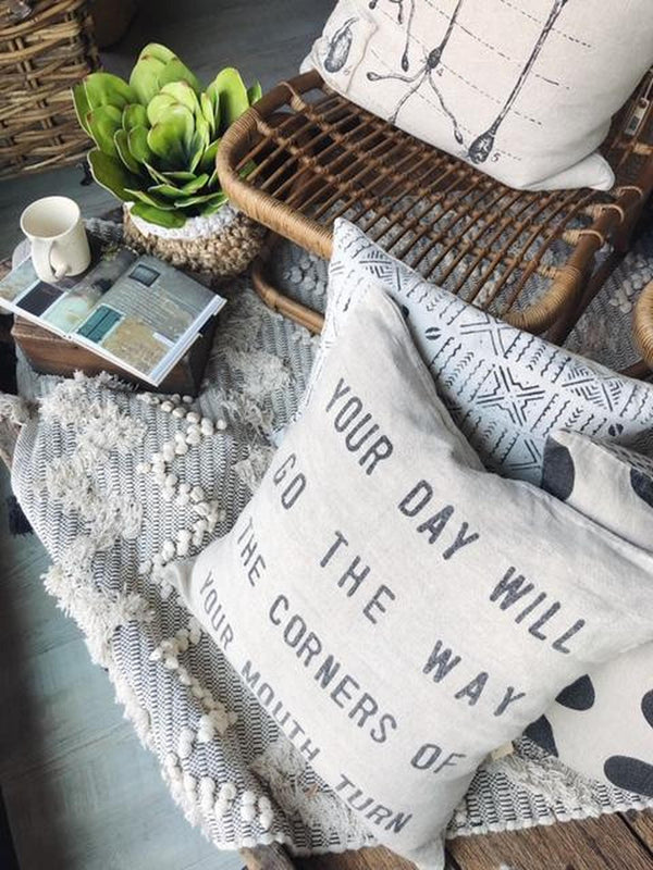 """Your Day Will Go"" Pillow"