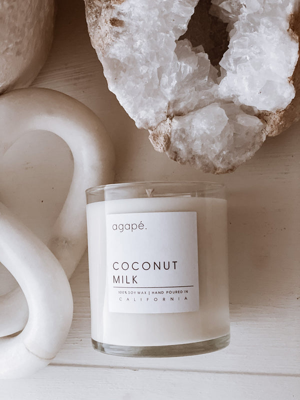 AGAPE CANDLES Coconut Milk Candle