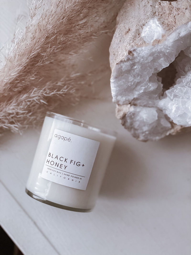 AGAPE CANDLES Black Fig + Honey Candle