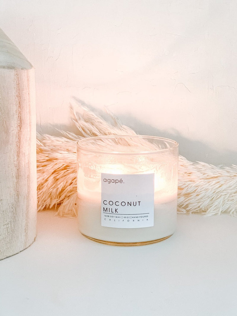 AGAPE CANDLES Coconut Milk Double Wick Candle