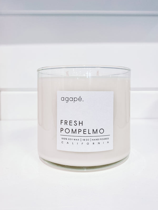 AGAPE CANDLES Fresh Pompelmo Double Wick Candle