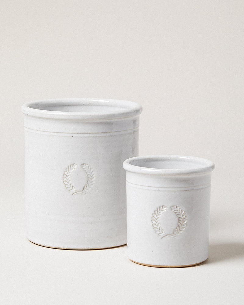 FARMHOUSE POTTERY Miller Laurel Farmhouse Crock