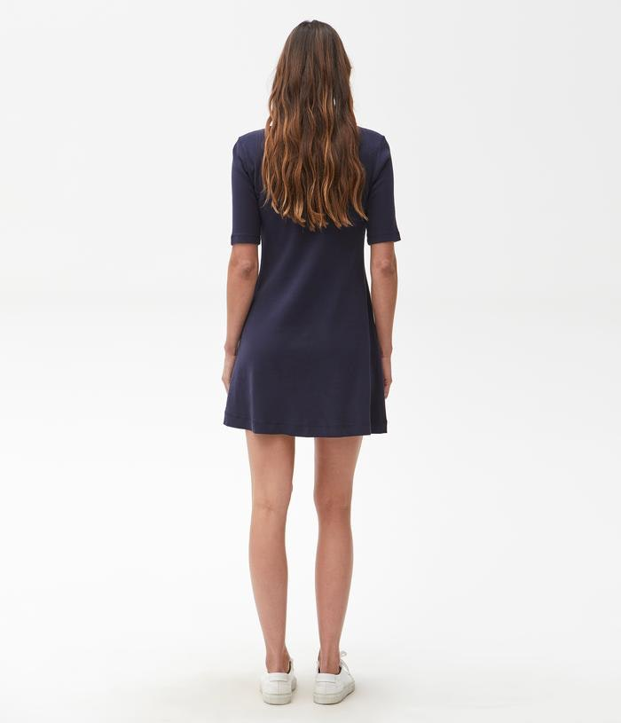 MICHAEL STARS Milo Tee Dress - navy