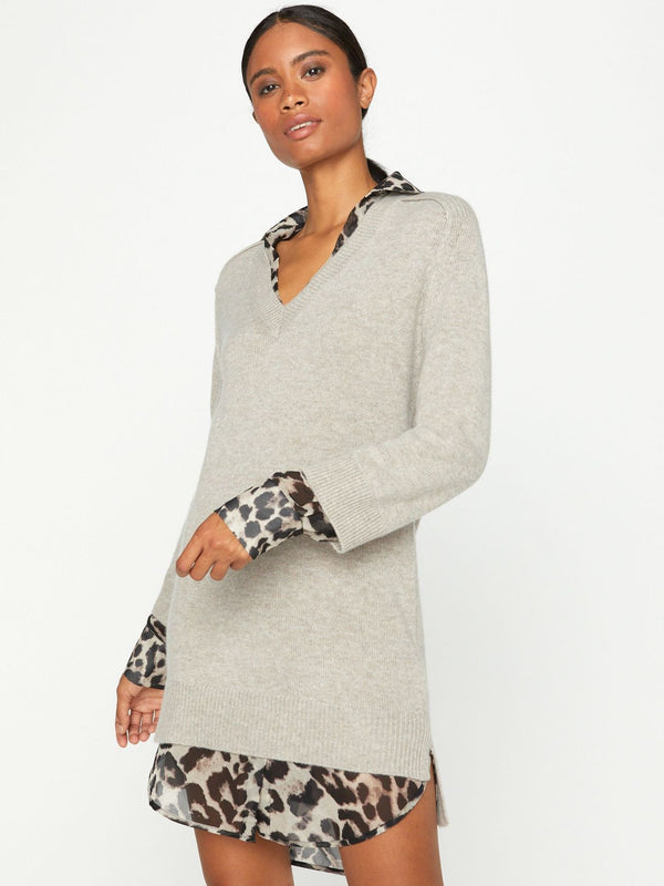 BROCHU WALKER Printed layered looker dress