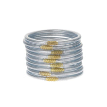 Load image into Gallery viewer, BUDDHAGIRL ALL WEATHER BANGLES- Silver