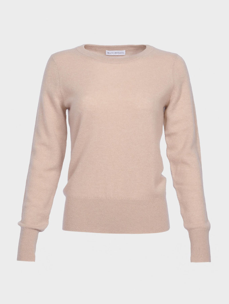 WHITE + WARREN Long Sleeve Crew Neck Sweater