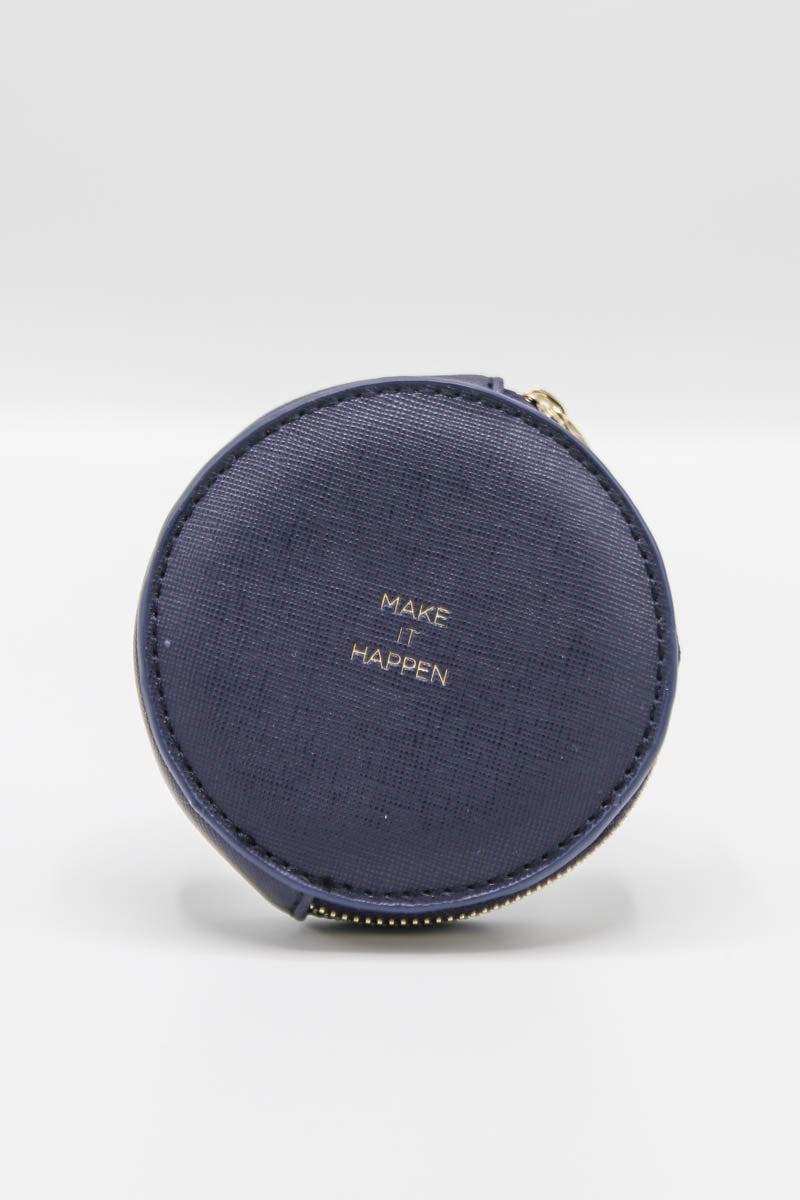 Circle Coin Purse - Navy