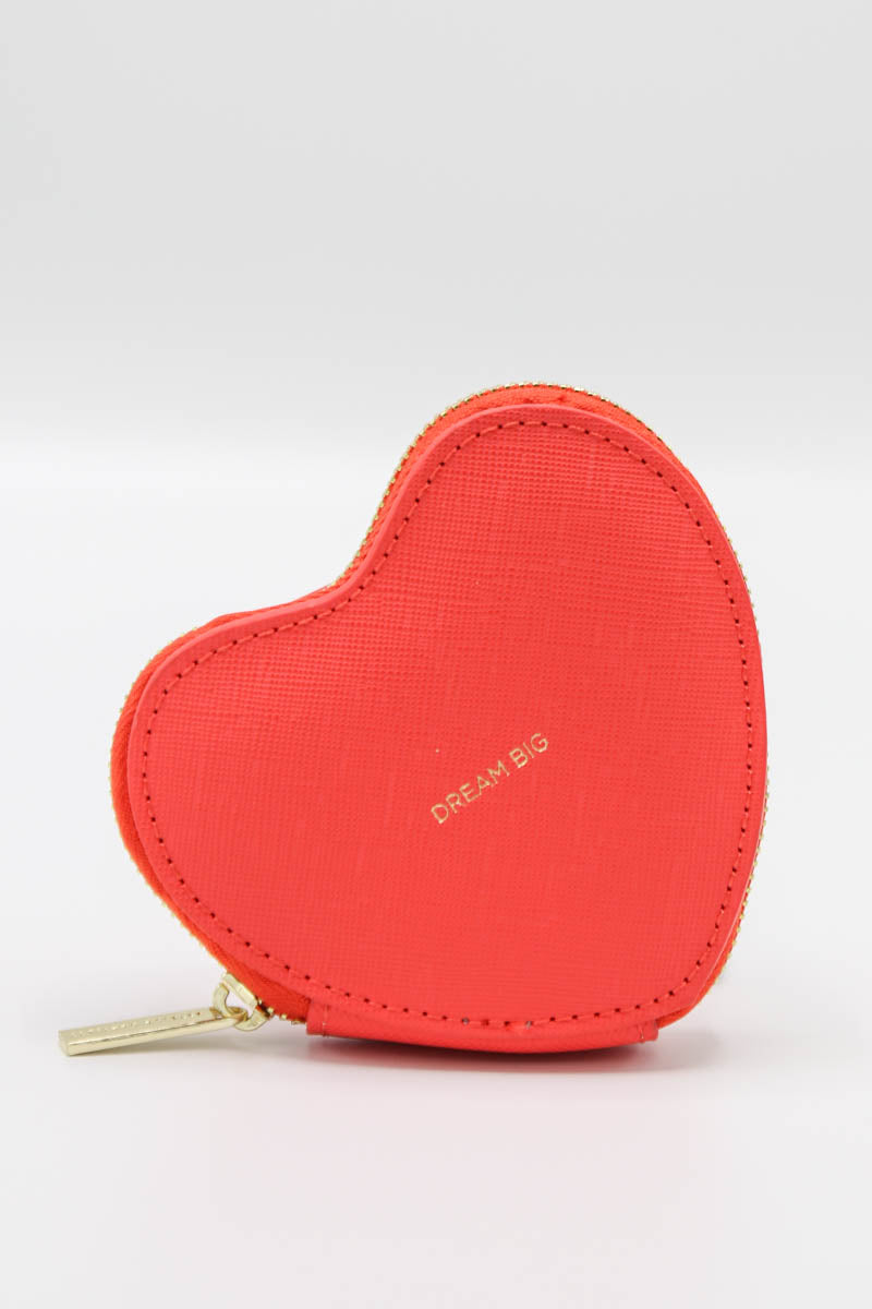 Heart Coin Purse - Coral
