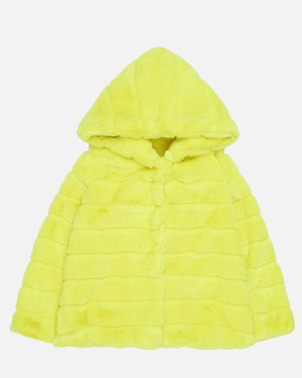 APPARIS Goldie Faux Fur Jacket - Neon Yellow