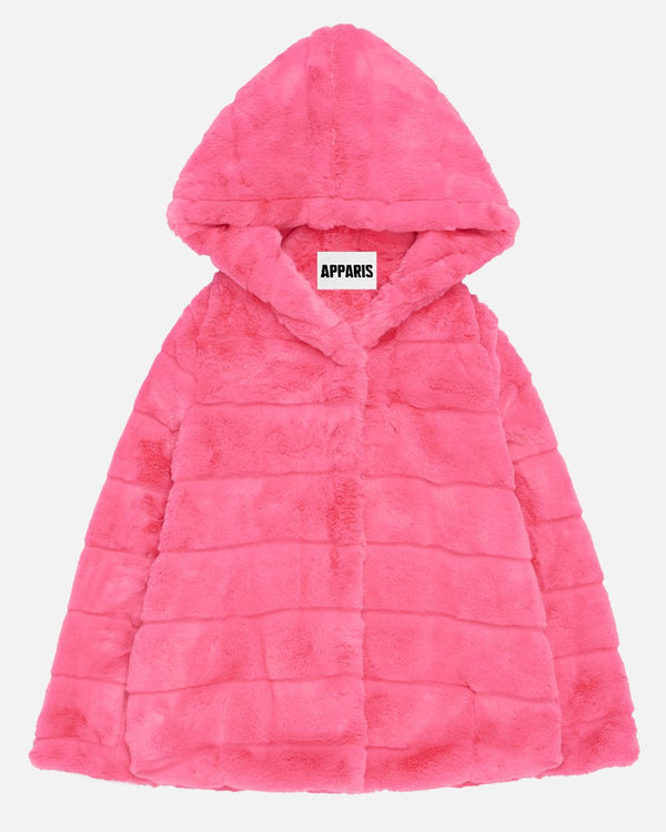 APPARIS Goldie Faux Fur Jacket - Bubble Gum
