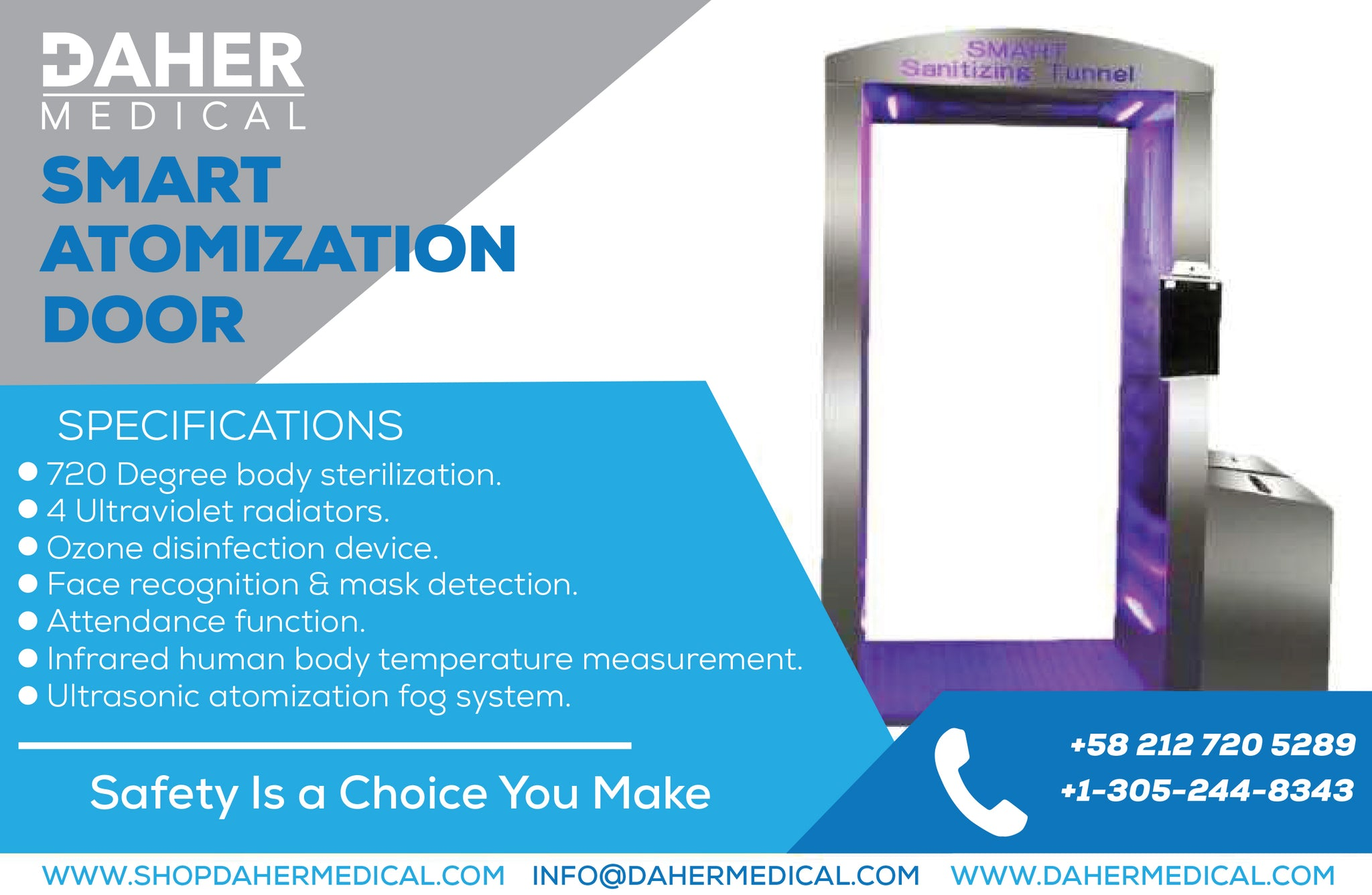 Sanitation and Disinfection Ozone/UV Smart Atomization Door (Ships in 30 business days.)