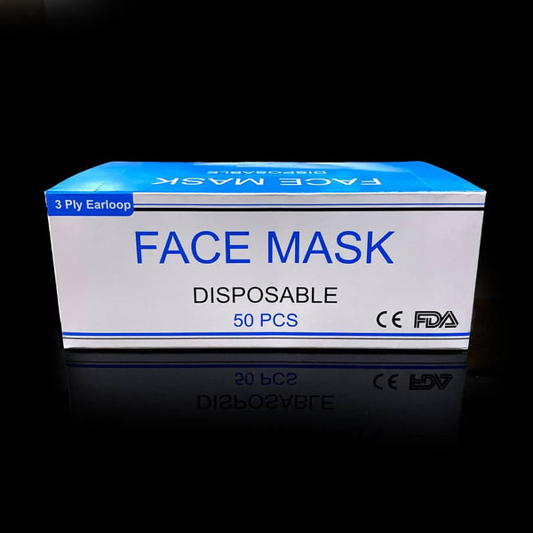 3-Ply Protective Mask (Box of 50) - ON SALE (LIMITED SUPPLIES)