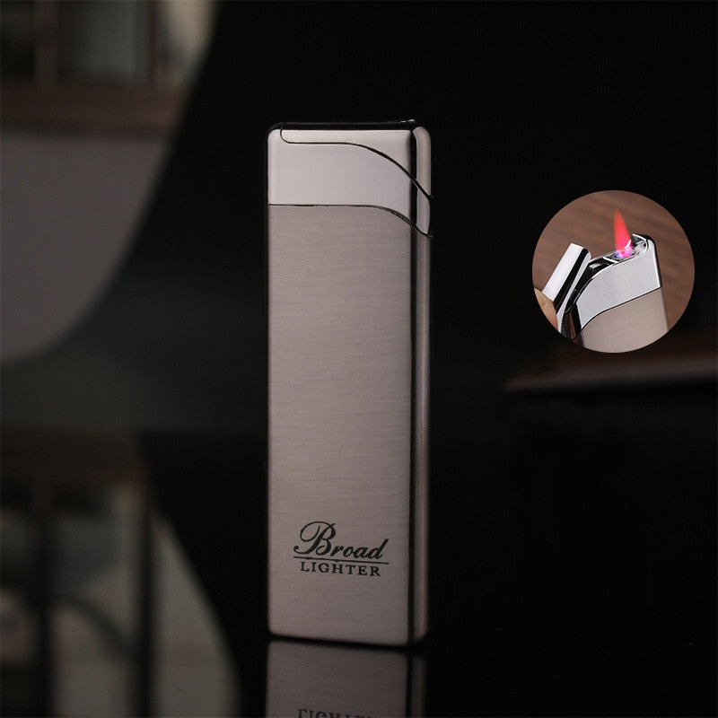 Torch Turbo 1300 C Windproof Lighter Ultra-Thin Metal Long Stripe Jet Straight Fire Gas Butane Welding Cigarettes Lighters