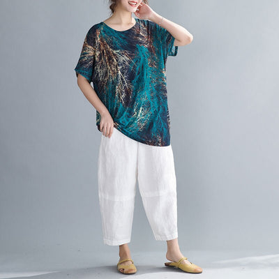 DIMANAF Plus Size Women T-Shirts Summer Vintage Lady Tops Tees Tunic Shirts Casual Loose Oversize Female Clothing Thin 2020 New