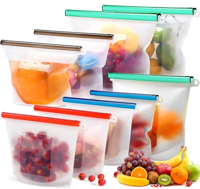 Reusable Silicone Food Bag Freezing Bag Food Storage Bag Airtight Seal Food Preservation Bag Refrigerator  Food Container