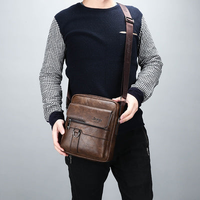 JEEP BULUO Luxury Brand Men Messenger Bags Crossbody Business Casual Handbag Male Spliter Leather Shoulder Bag Large Capacity