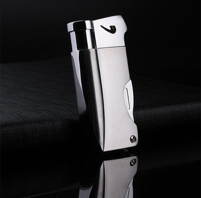 2019 Butane Jet Lighter With Pipe Tool Pipe Rod Lighter Men Compact Butane Cigarette Accessories Cigar Lighter NO GAS